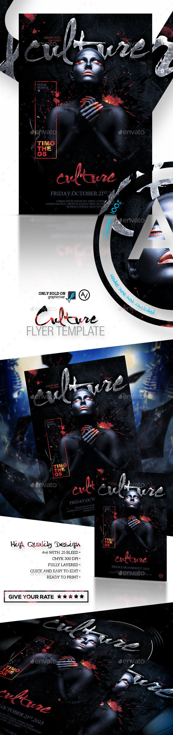 Culture Flyer Template - Clubs & Parties Events
