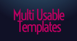 After Effects Multi usable Templates