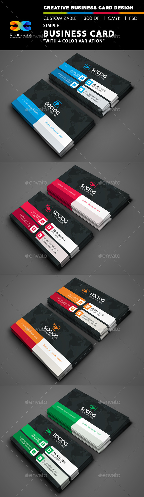 Simple Business Card - Corporate Business Cards
