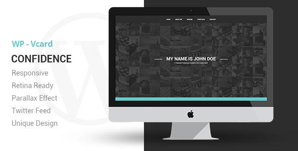 Confidence Responsive VCard WordPress Theme - Portfolio Creative