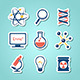 Chemistry And  Science Paper Cut Icons - GraphicRiver Item for Sale
