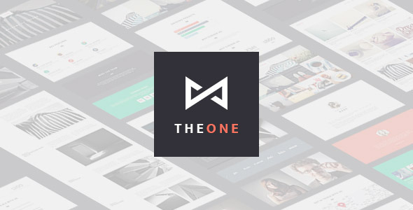 THEONE –  Parallax Onepage WordPress Theme