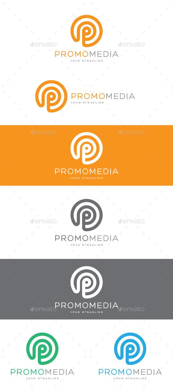 Promo Media Letter P Logo - Letters Logo Templates