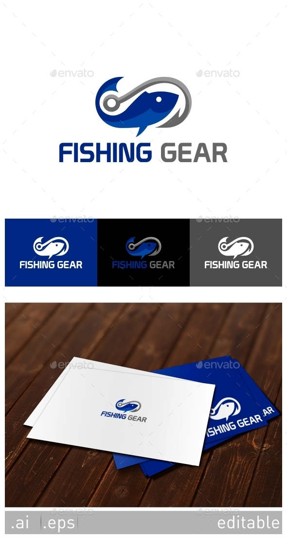 Fishing Gear Logo Template - Animals Logo Templates