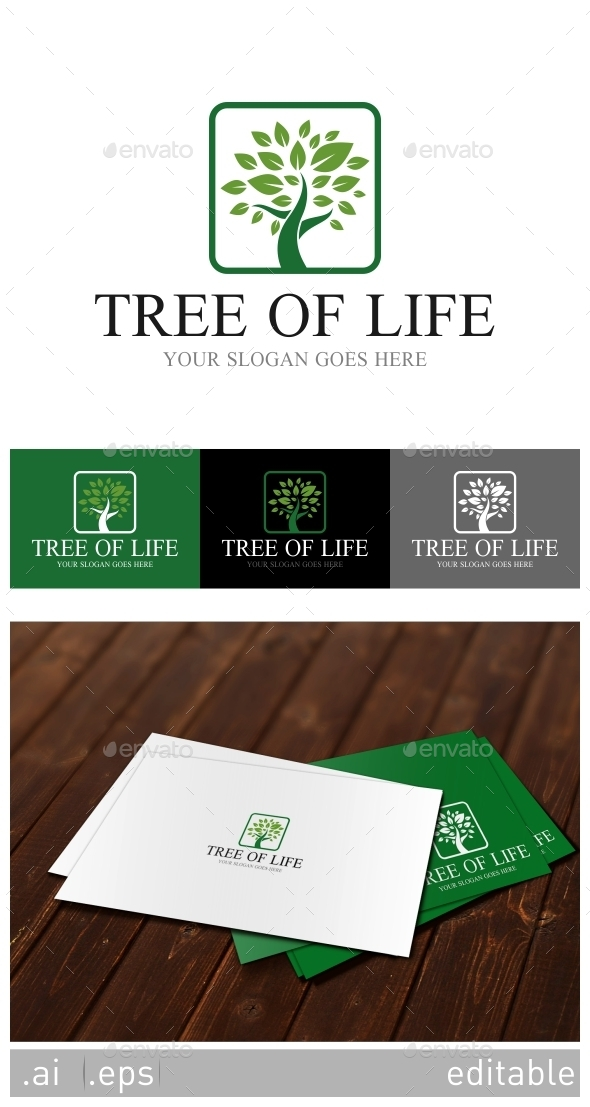 Tree Of Life Logo Template - Nature Logo Templates