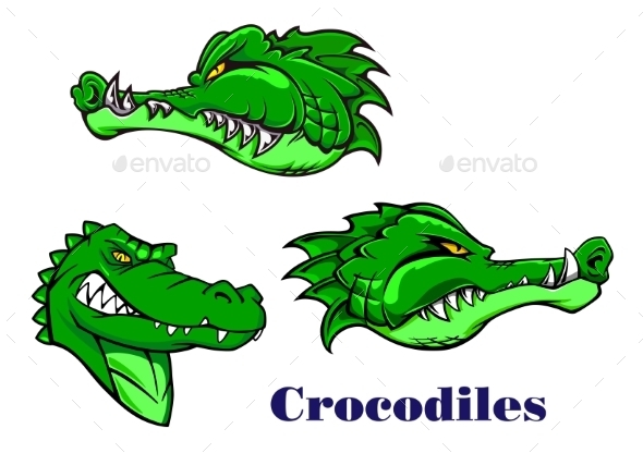 Cartoon Crocodile and Alligators Characters - Animals Characters