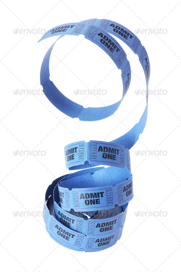Reel of tickets - Stock Photo - Images