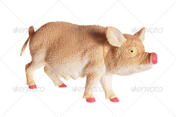 Pig Figurine - Stock Photo - Images