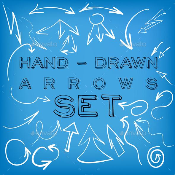 Set of Hand Drawn Arrows - Web Elements Vectors