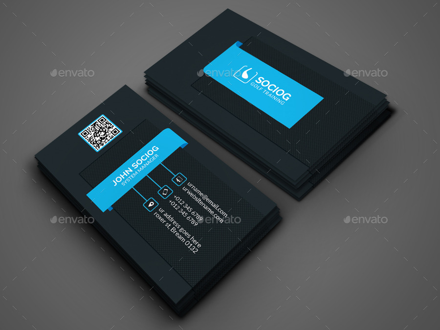 Golf Business Card by -axnorpix | GraphicRiver