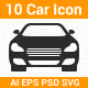 10 Vector Car Icon  - GraphicRiver Item for Sale