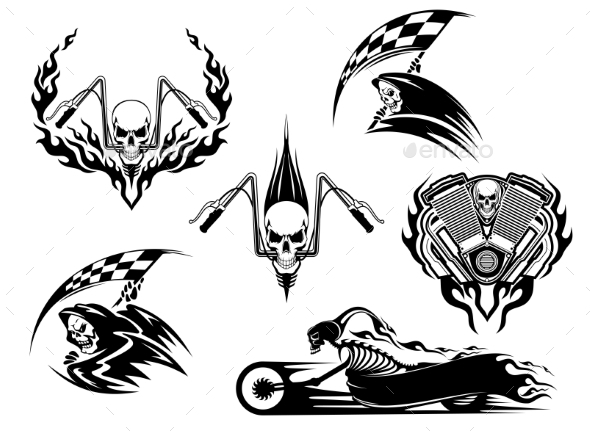 Death Road Accident and Racing Characters - Religion Conceptual