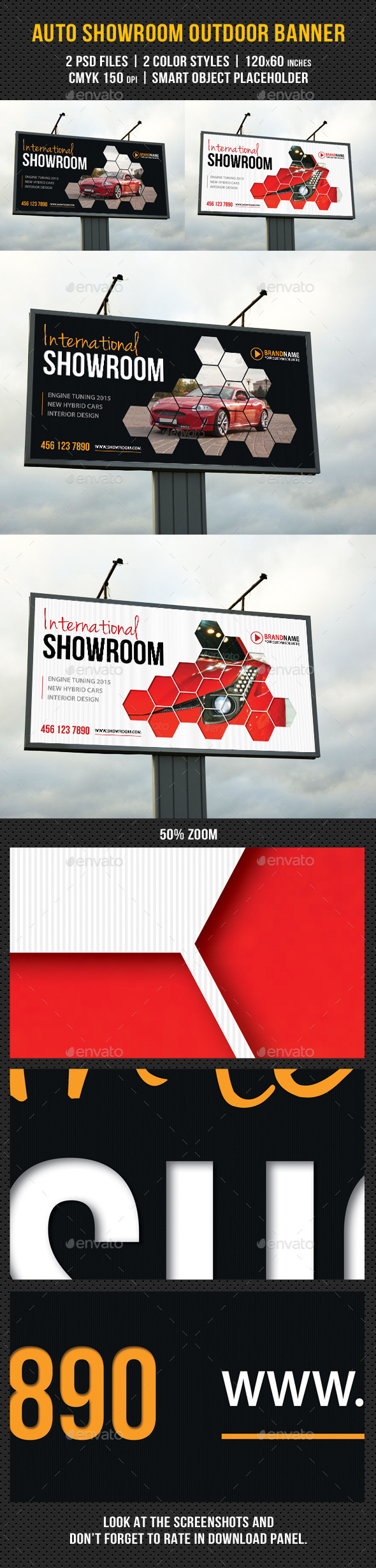 Auto Showroom Outdoor Banner 03 - Signage Print Templates