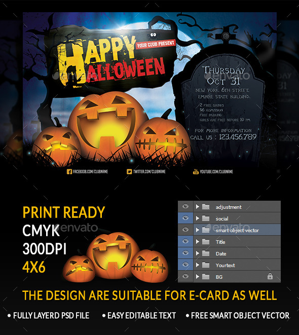 Halloween - Holiday Greeting Cards