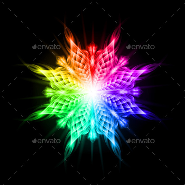 Multicolored Pattern on the Black Background - Patterns Decorative