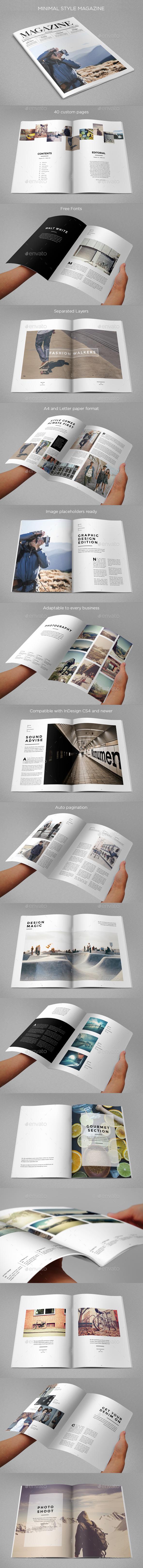 Minimal Style Magazine - Magazines Print Templates