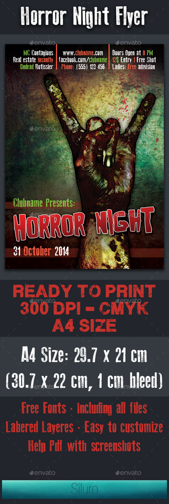 Horror Night Flyer - Clubs & Parties Events
