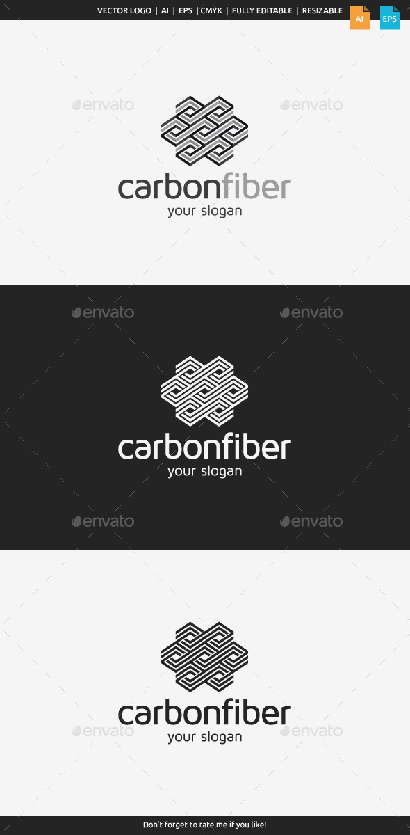 Carbon Fiber Logo - Abstract Logo Templates