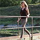 Girl Crossing the Small Bridge 3 - VideoHive Item for Sale