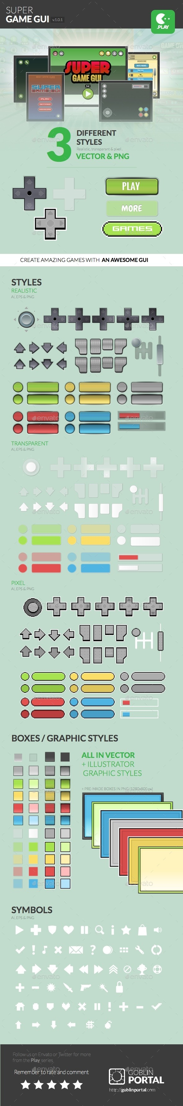 Super Game User Interface - User Interfaces Game Assets