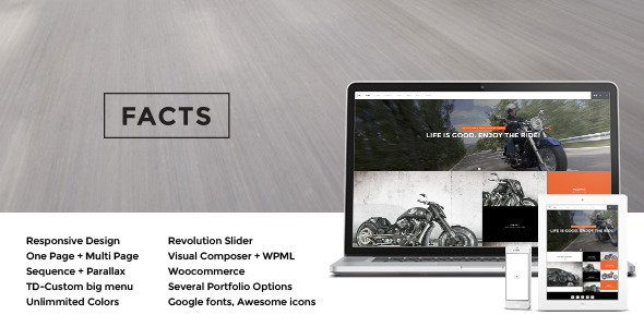 Facts - Responsive MultiPurpose Wp Theme - Photography Creative