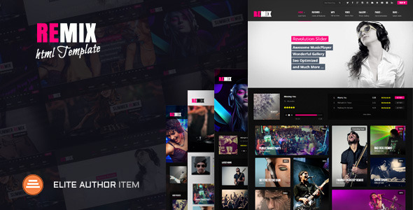 Remix Music - HTML5 Music - Music and Bands Entertainment