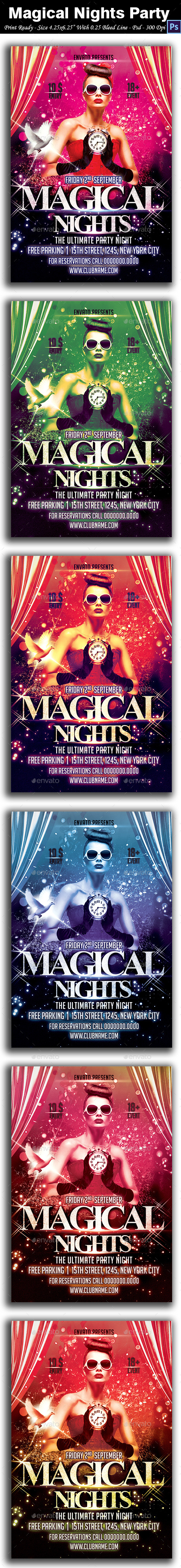 Magical Nights Party Flyer - Clubs & Parties Events