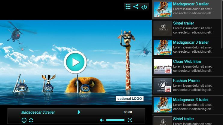 Elegant video gallery youtube html5 by creativemedia for Html5 video player template