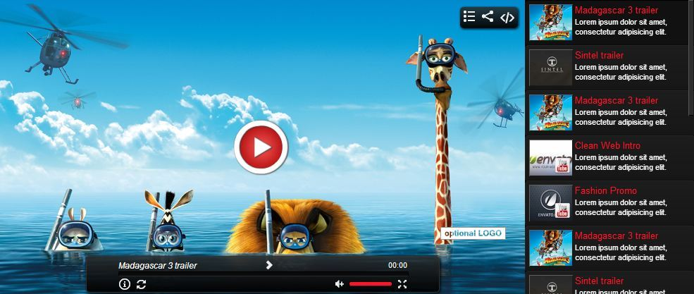 Elegant Video Gallery YouTube HTML5 by CreativeMedia
