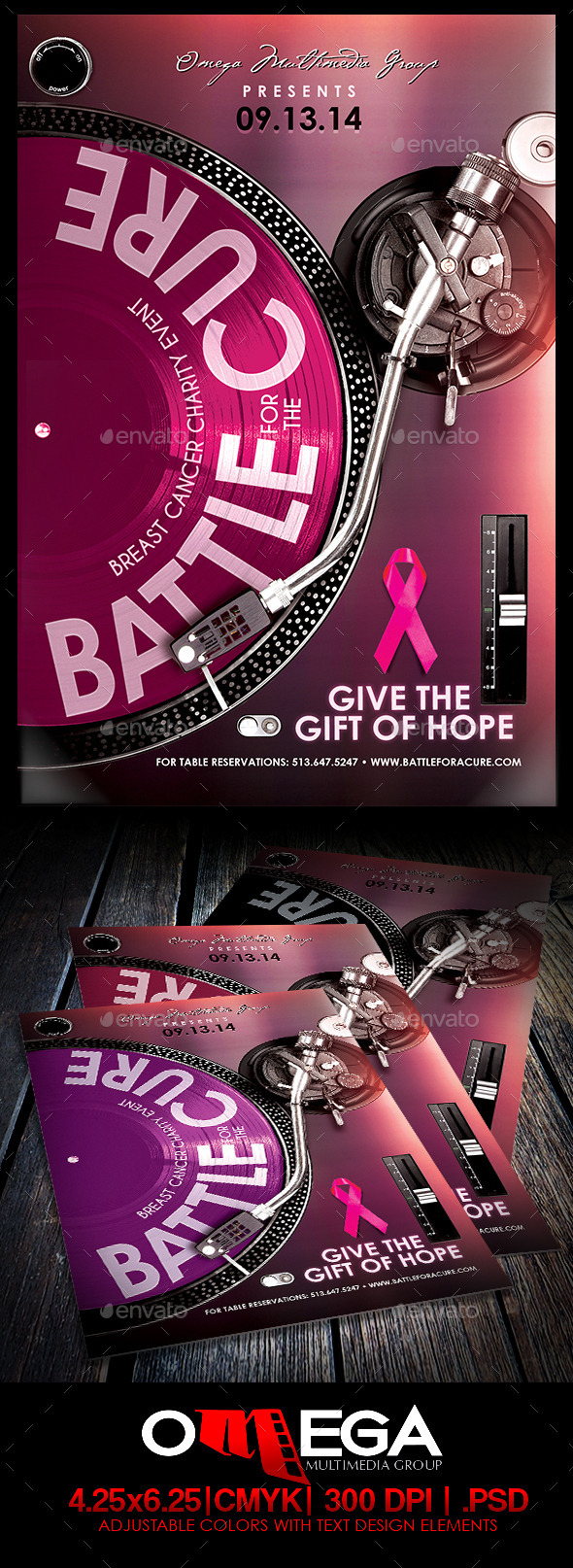 Battle for a Cure V2 - Flyers Print Templates