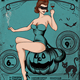 Halloween Sexy Vintage Grunge Flyer - GraphicRiver Item for Sale