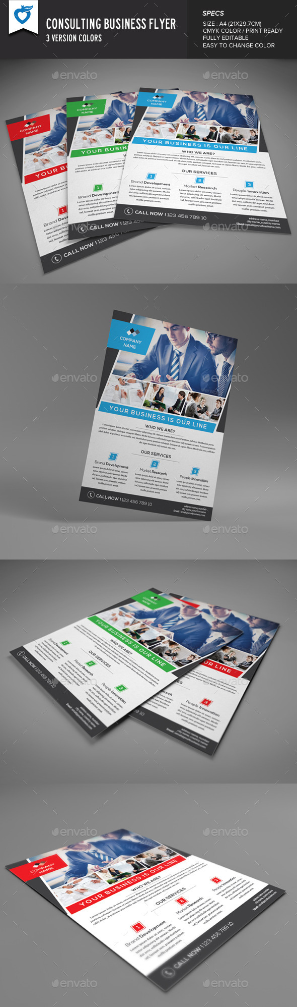 Consulting Business Flyer - Corporate Flyers
