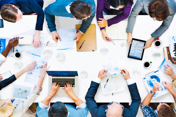 Diverse Business People on a Meeting - Stock Photo - Images
