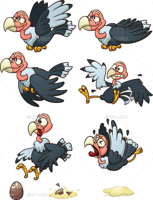 Cartoon Vulture - Animals Characters