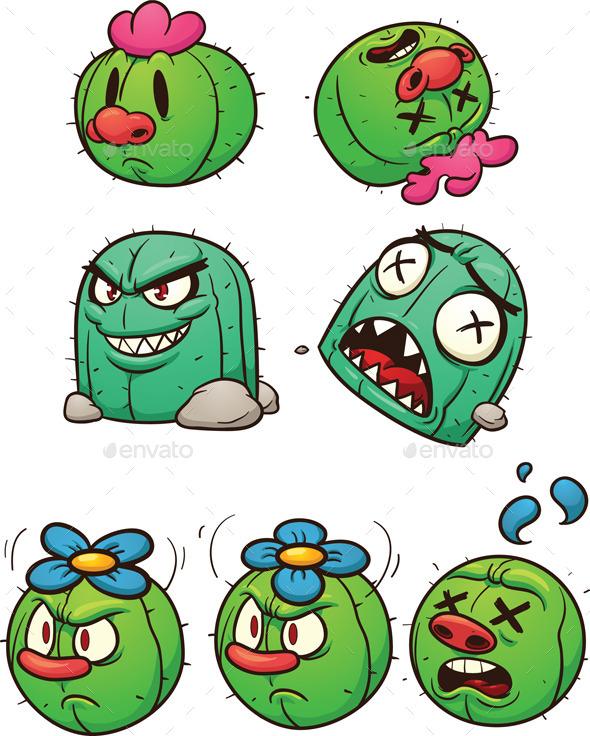 Cactus Characters - Characters Vectors
