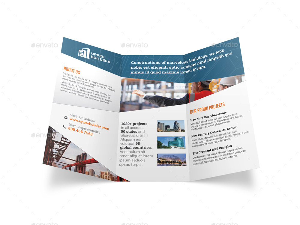 Construction Company Tri Fold Flyers Mersnoforum