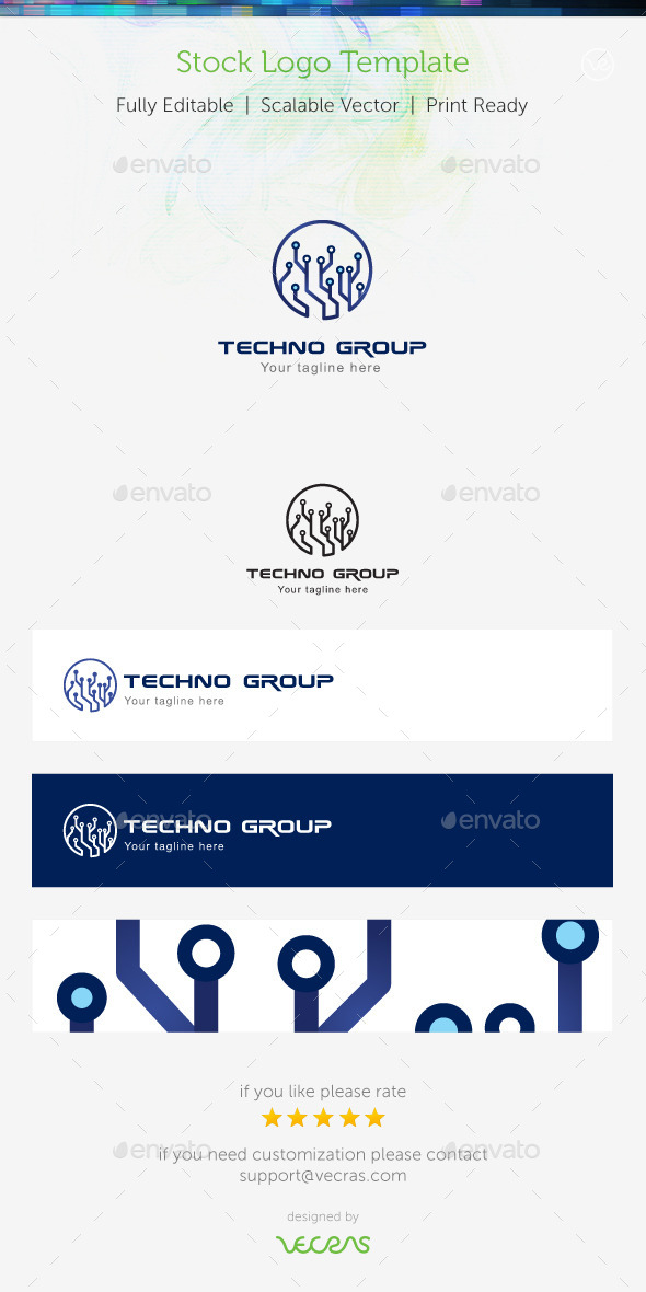 Techno Group Stock Logo Template - Abstract Logo Templates