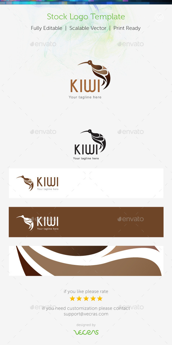 Kiwi Stock Logo Template - Animals Logo Templates