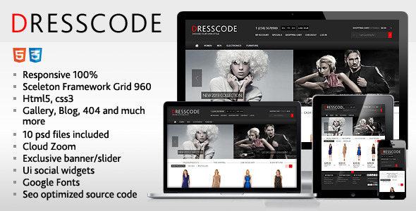 Dresscode - Responsive HTML Template - Fashion Retail