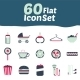 60 Flat Icons Design - GraphicRiver Item for Sale