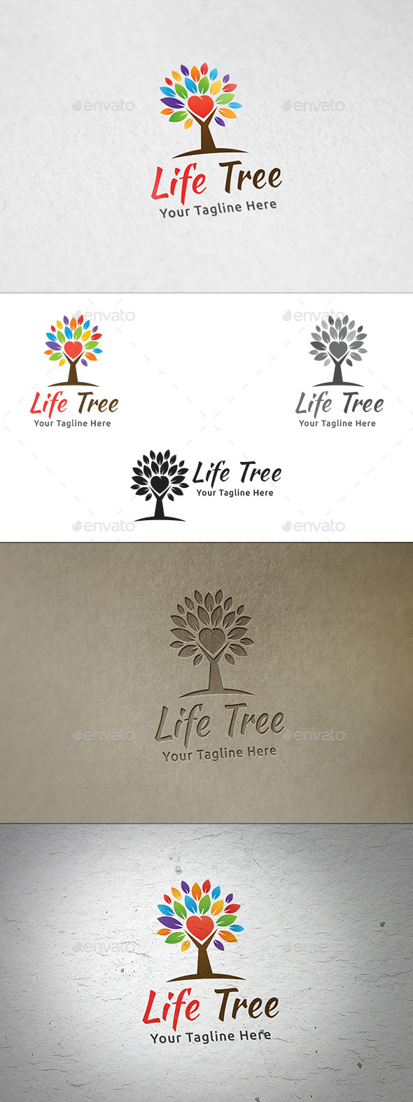 Life Tree - Logo Template - Nature Logo Templates