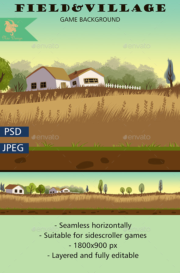 Field Game Background - Backgrounds Game Assets