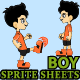 Boy Sprite Sheet  - GraphicRiver Item for Sale