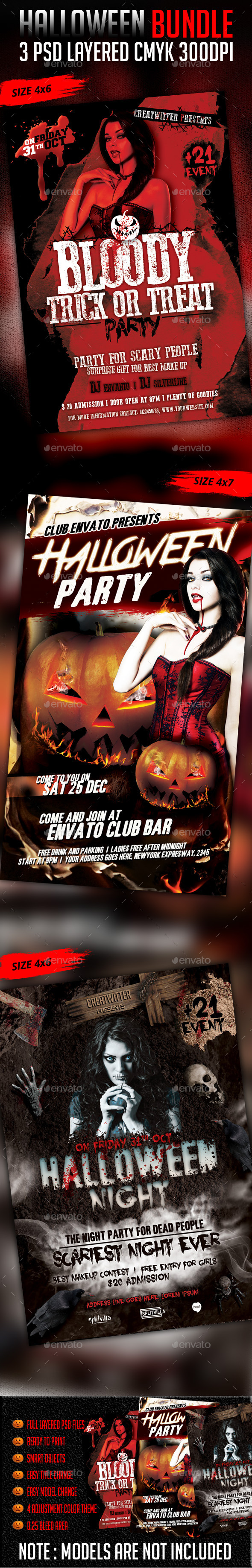 Halloween Bundle V1 - Clubs & Parties Events
