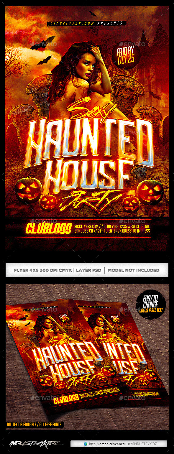 Haunted House Flyer  - Holidays Events