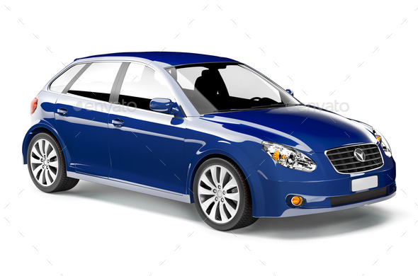 Blue car - Stock Photo - Images