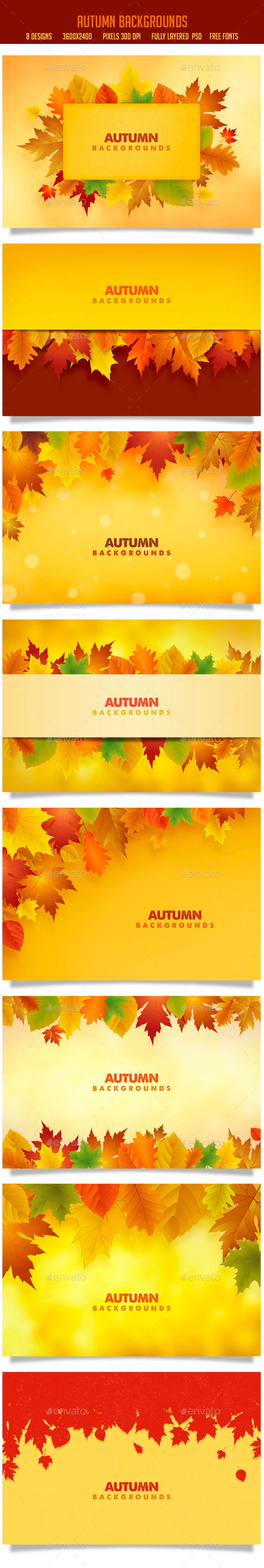 Autumn Backgrounds - Backgrounds Graphics