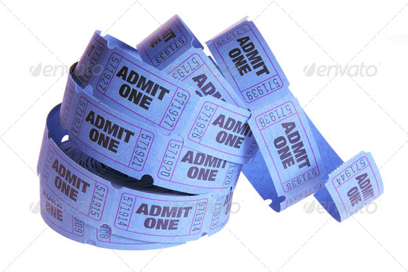 Reel of Movie Tickets - Stock Photo - Images