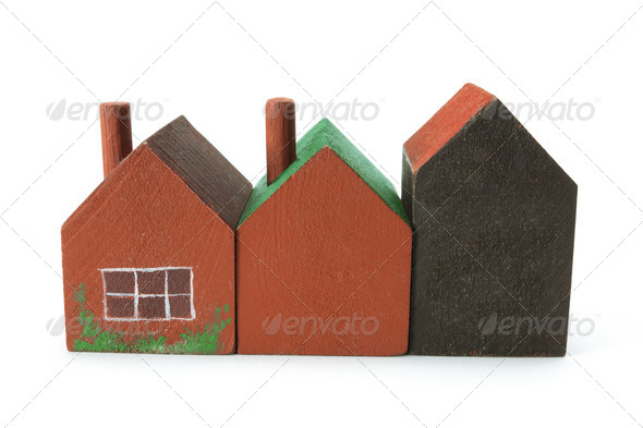 Wooden Miniature Houses - Stock Photo - Images