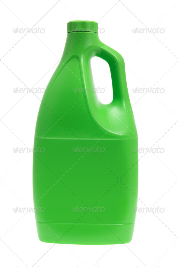 Plastic Detergent Bottle - Stock Photo - Images